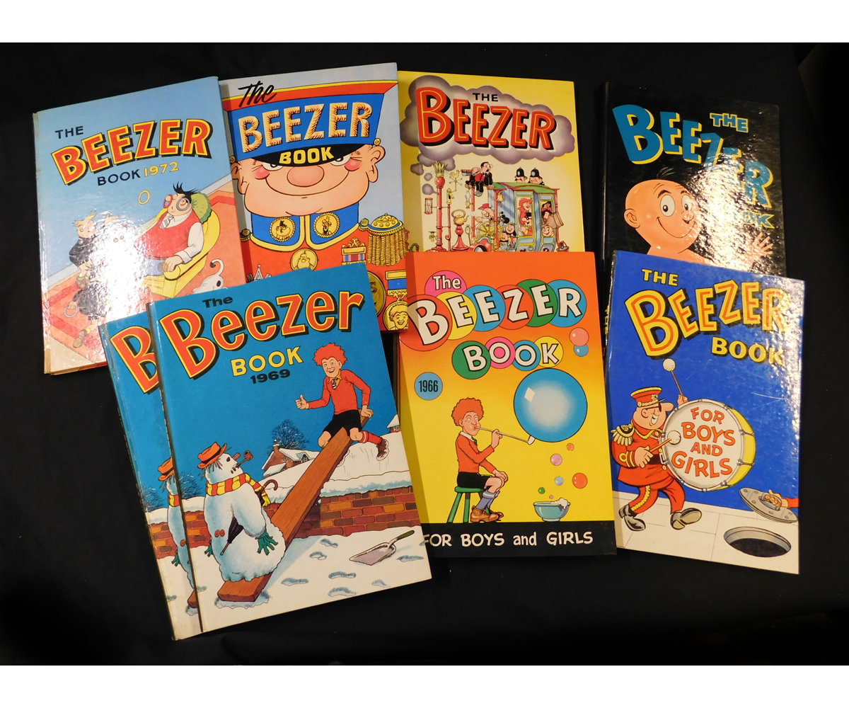 THE BEEZER BOOK, Annuals for 1960, 1962, 1964, 1965, 1966, 1969 (2), and 1972, each published D C