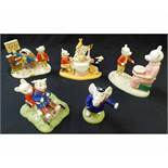 BOX of three Royal Doulton limited edition Rupert the Bear figure groups RUPERT AND THE KING,