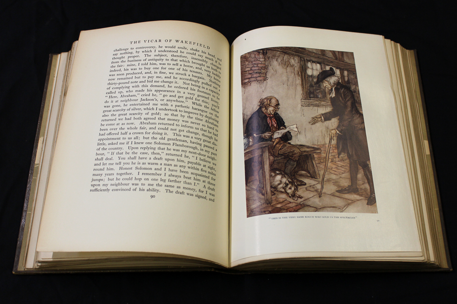 OLIVER GOLDSMITH: THE VICAR OF WAKEFIELD, illustrated Arthur Rackham, London, 1929, 1st trade - Image 2 of 6