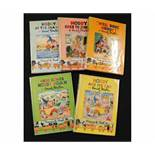 ENID BLYTON: 5 titles: NODDY AND HIS CAR, ND, early edition, original pictorial boards, rounded