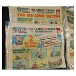 BOX the comic weekly section of The Los Angeles Examiner, December 23 1951 - May 4 1952, 18 assorted
