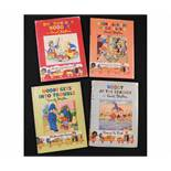 ENID BLYTON: 4 titles: NODDY AT THE SEASIDE, [1953], 1st edition, original pictorial boards, dust-