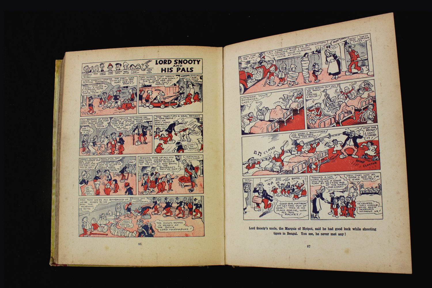 THE BEANO BOOK [No 1 Annual for 1940], London, Manchester and Dundee, D C Thomson & Co, [1939], 128p - Image 7 of 16