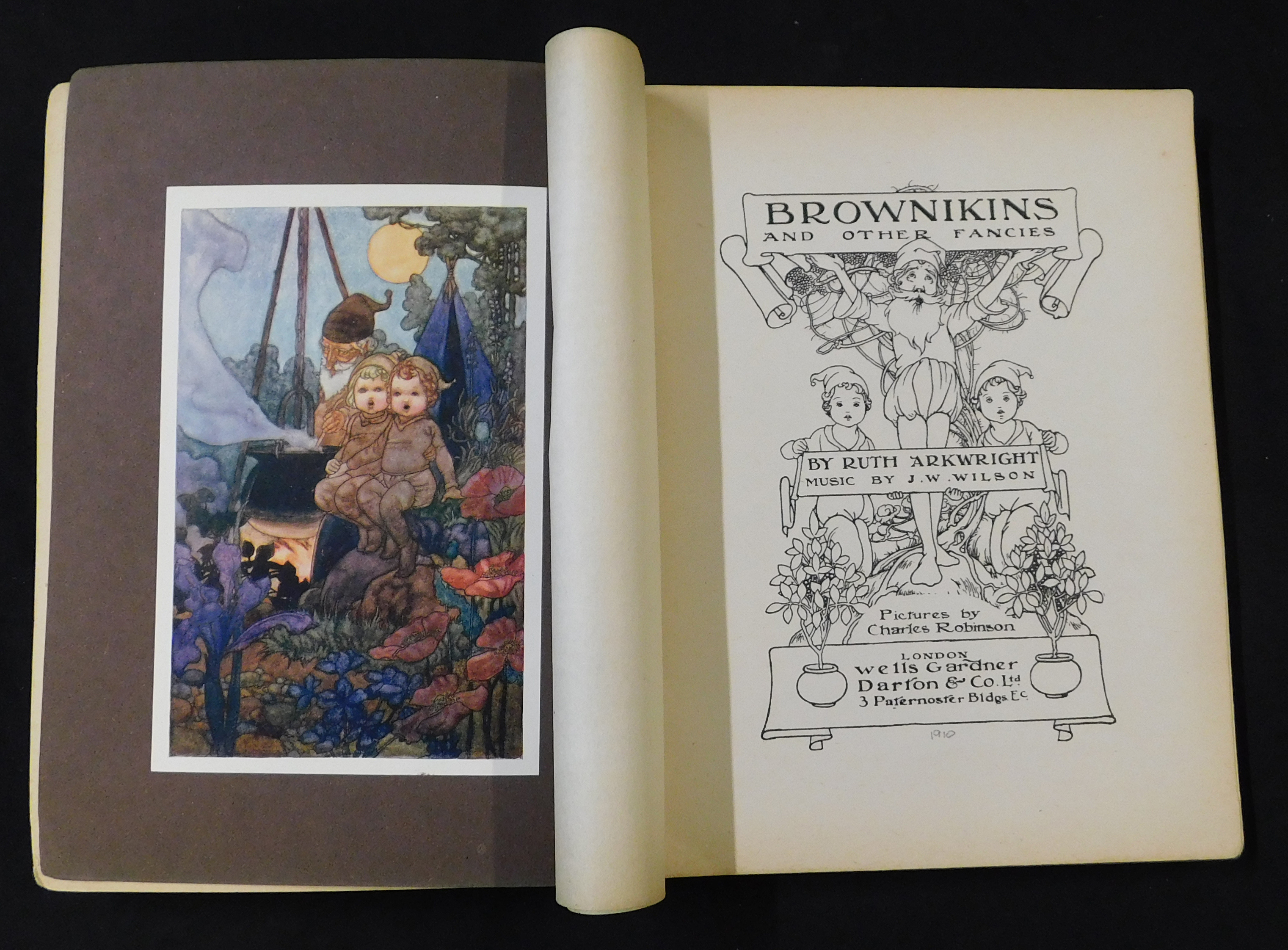 RUTH ARKWRIGHT: BROWNIEKINS AND OTHER FANCIES, illustrated Charles Robinson, London, Wells Gardner - Image 2 of 3
