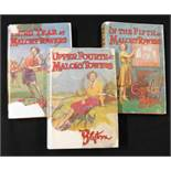 ENID BLYTON: 3 titles: UPPER FOURTH AT MALLORY TOWERS, London, 1949, 1st edition, original pictorial