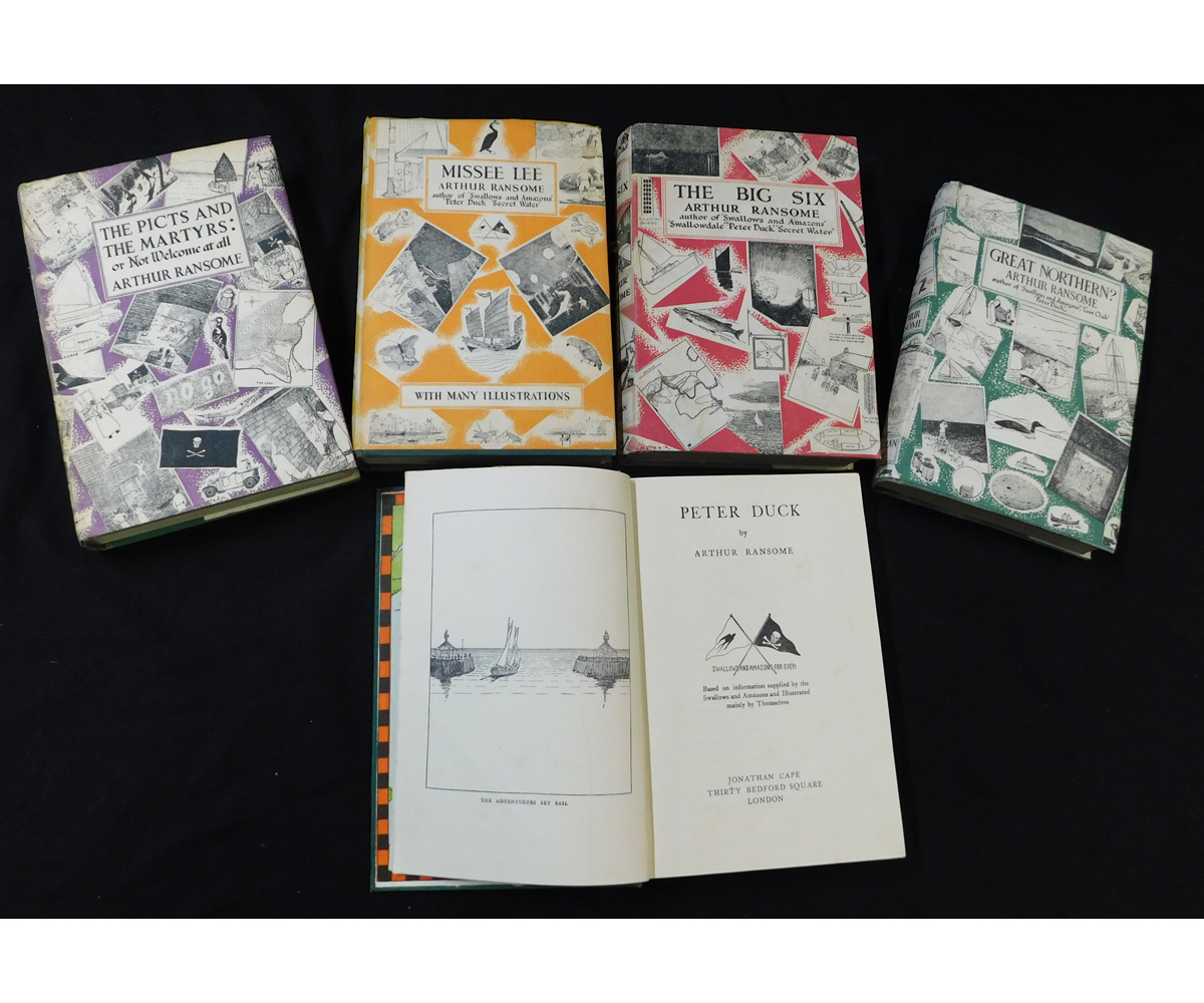 ARTHUR RANSOME: 5 titles: GREAT NORTHERN?, London 1955, 8th impression, original cloth gilt worn and