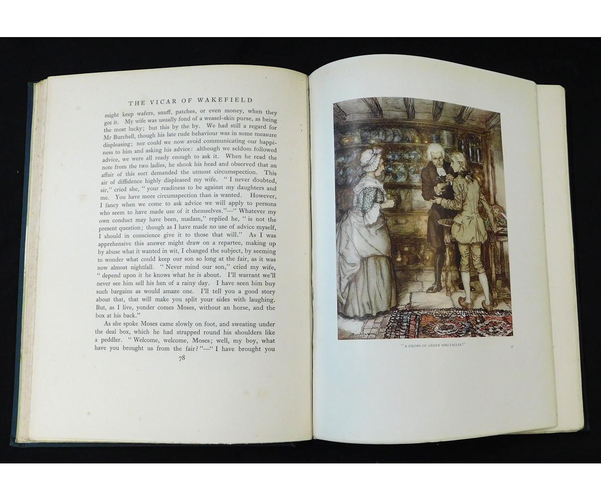 OLIVER GOLDSMITH: THE VICAR OF WAKEFIELD, illustrated Arthur Rackham, London, 1929, 1st edition, - Image 2 of 10
