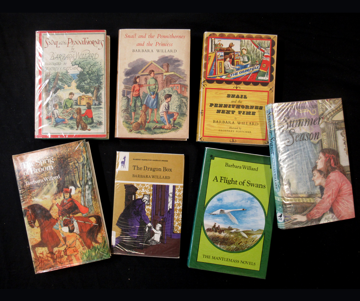 BARBARA WILLARD: 7 titles: THE DRAGON BOX, 1972, 1st edition, original pictorial boards, dust-