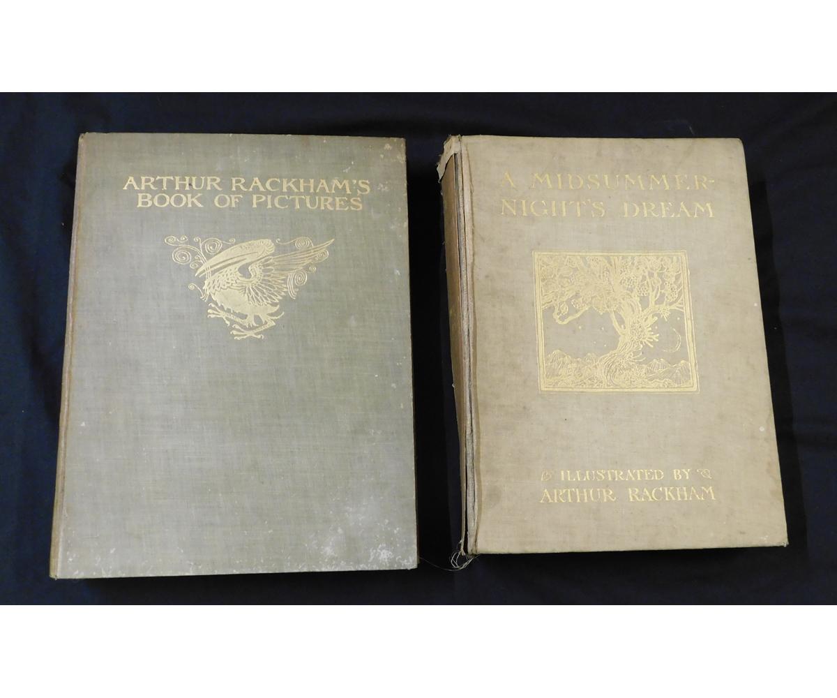 ARTHUR RACKHAM (ILLUSTRATED) 2 titles: A MIDSUMMER-NIGHT'S DREAM, London, William Heinemann, 1908,
