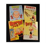 BERYL THE PERIL, Annuals for 1965, 1969, 1971 and 1975, each published D C Thomson & Co, each