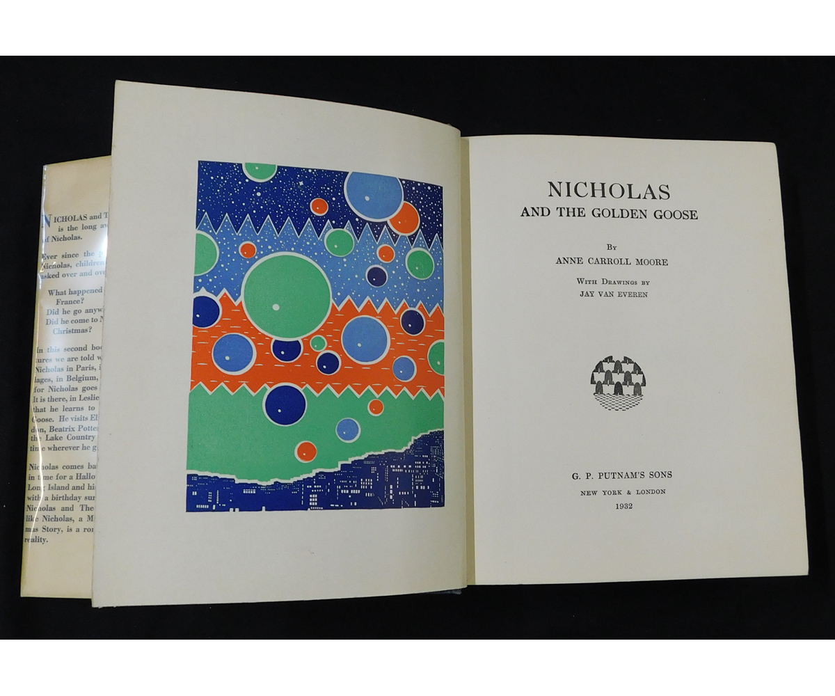 ANNE CARROLL MOORE: NICHOLAS AND THE GOLDEN GOOSE, illustrated Jay van Everen, coloured frontis + - Image 2 of 2