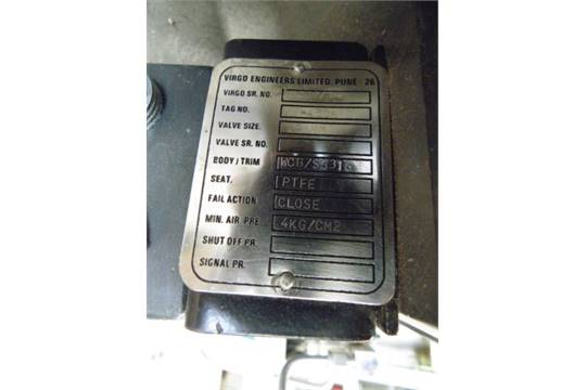 Unused Virgo 25RB 300WBC / SS316 25mm quick shut-off valve with