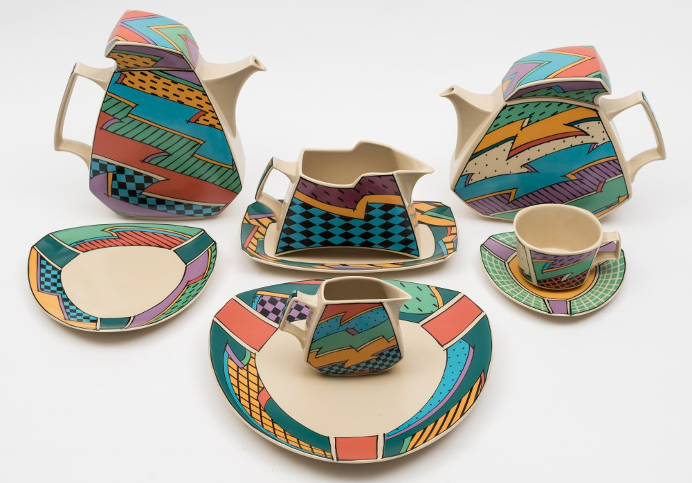 A Rosenthal Studio Line Tea Service In The Flash One Pattern