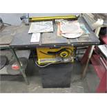 """LOT - ROCKWELL MODEL 10 HOMECRAFT PORTABLE 10"""" TABLE SAW"""