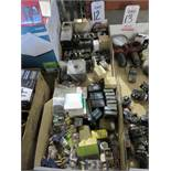 LOT - MISC ELECTRIC MACHINE COMPONENTS, TO INCLUDE: RELAYS, COILS, TIMERS, BEARINGS, ETC.