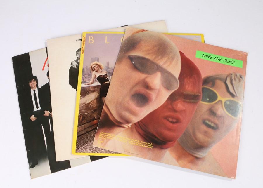 Lot 44 - 4x 70s/80s LPs, Blondie(2) - Parrallel Lines, Autoamericans. Devo - Q: Are We Not Men?. Ian Dury and