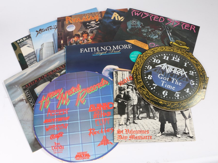Lot 58 - Quantity of Heavy Metal LPs, and singles, to include, Faith No More - Angel Dust LP, limited edition