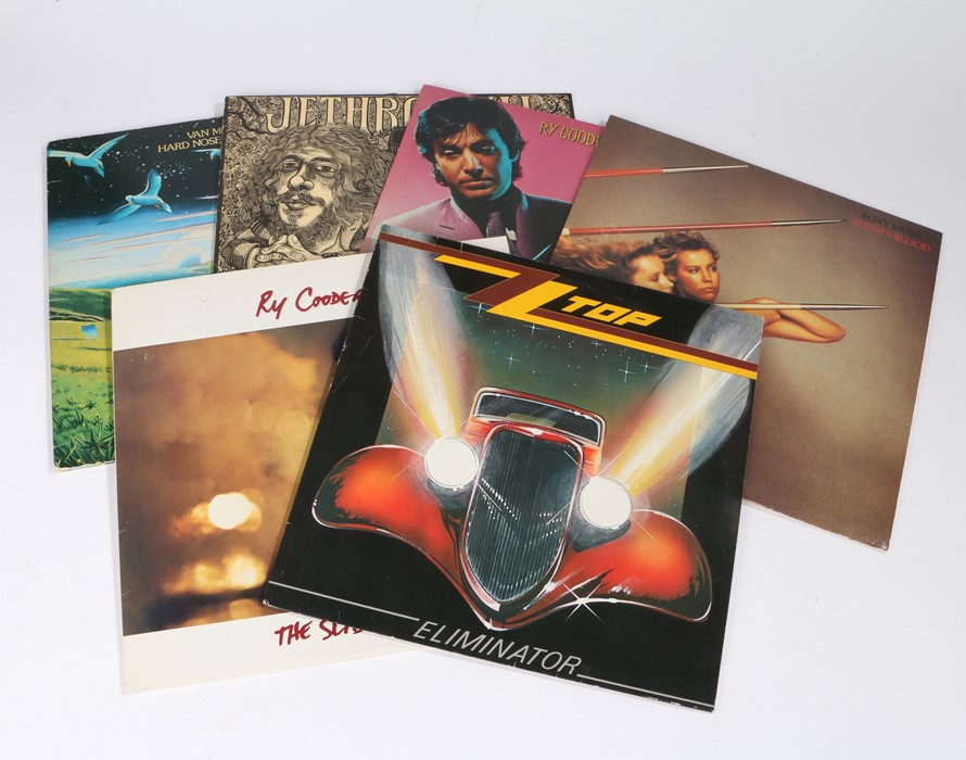 Lot 47 - 6x 70s/80s Rock LPs to include ZZ Top - Eliminator. Ry Cooder - The Slide Area. - Van Morrison -Hard