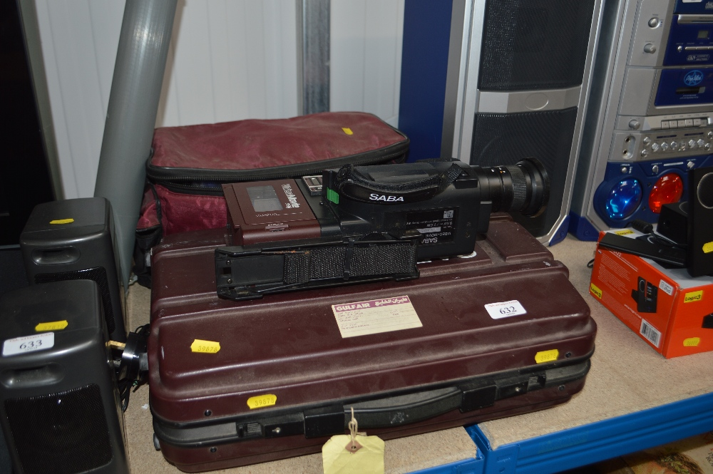 Lot 632 - A camcorder in fitted case with a bag of accessori