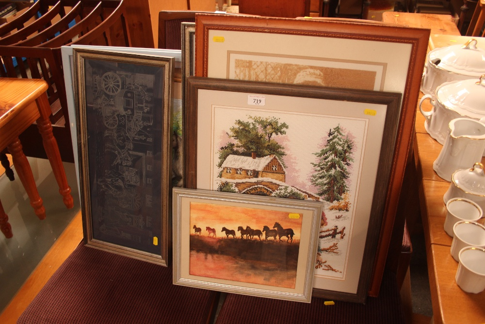 Lot 719 - A quantity of pictures and prints