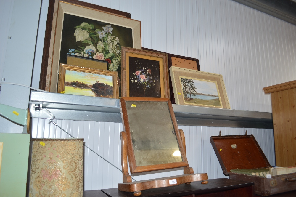 Lot 509 - A quantity of various pictures and prints and a sw