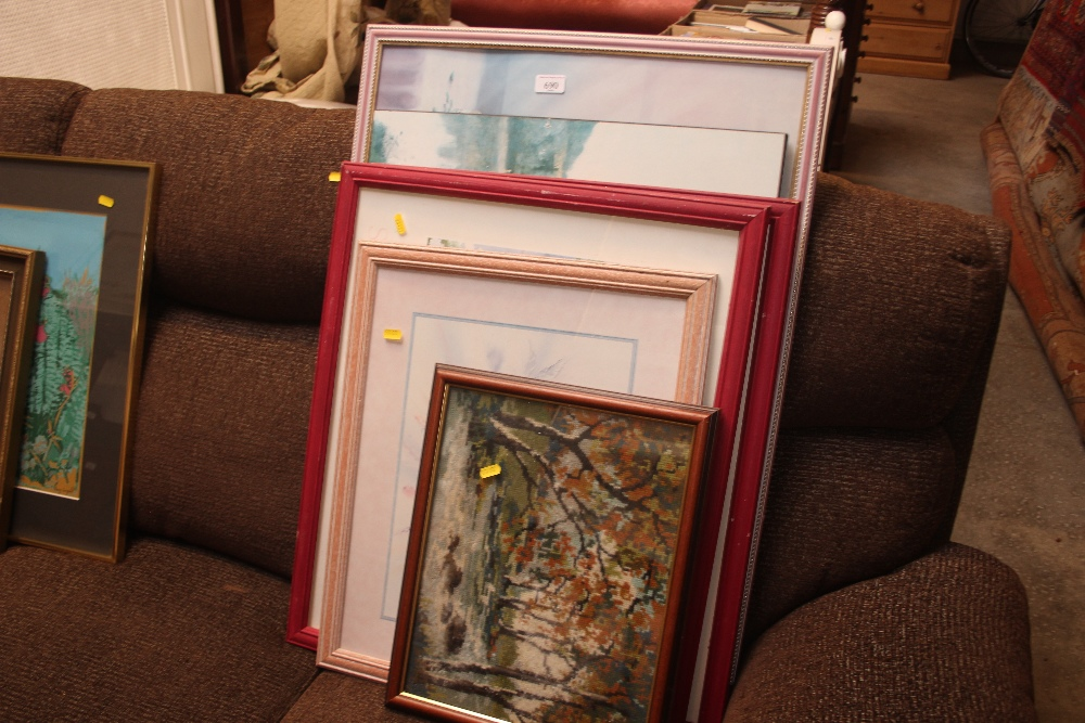 Lot 690 - A quantity of pictures and prints