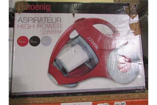 h koenig aspirateur high power 2200w bagless vacuum cleaner. Black Bedroom Furniture Sets. Home Design Ideas