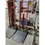 DAYTON 750 LB. HYDRAULIC PLATFORM LIFTER, MODEL 2MPU5