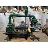 15 HP VACUUM BLOWER WITH INLINE FILTER , S/S DUAL OUTLET, 400M/BAR ON STAND