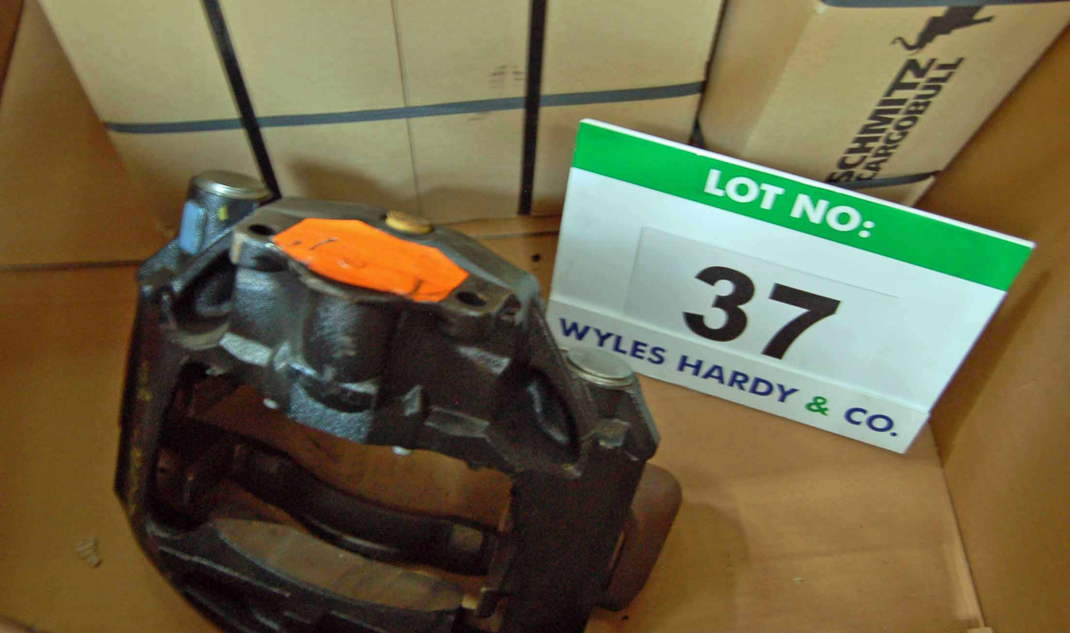 Lot 37 - Two Various Steel Racks, with Contents comprising A Quantity of Various SCANIA Plastic Trim Parts,