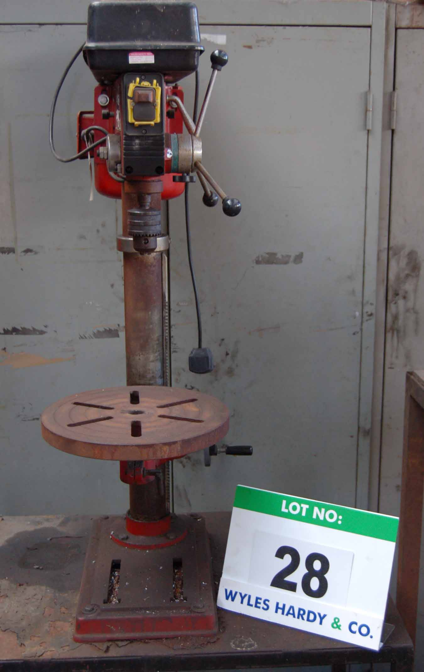 Lot 28 - A SEALEY GDM120BX 16-Speed Table Top Single Pedestal Pillar Drilling Machine, 16mm No. 2 MT Chuck