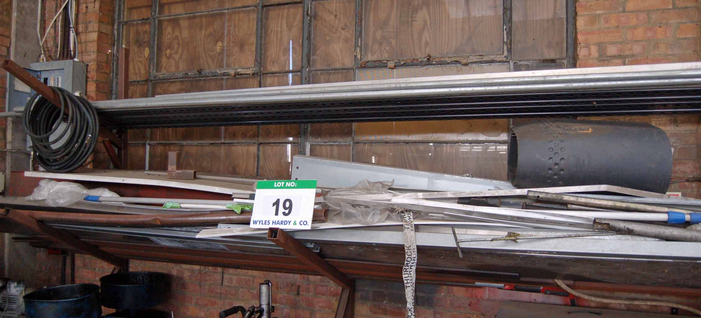 Lot 19 - A Quantity of Various Stainless Steel Profiled Sheet, Galvanised Steel Tube and Angle, Mild Steel