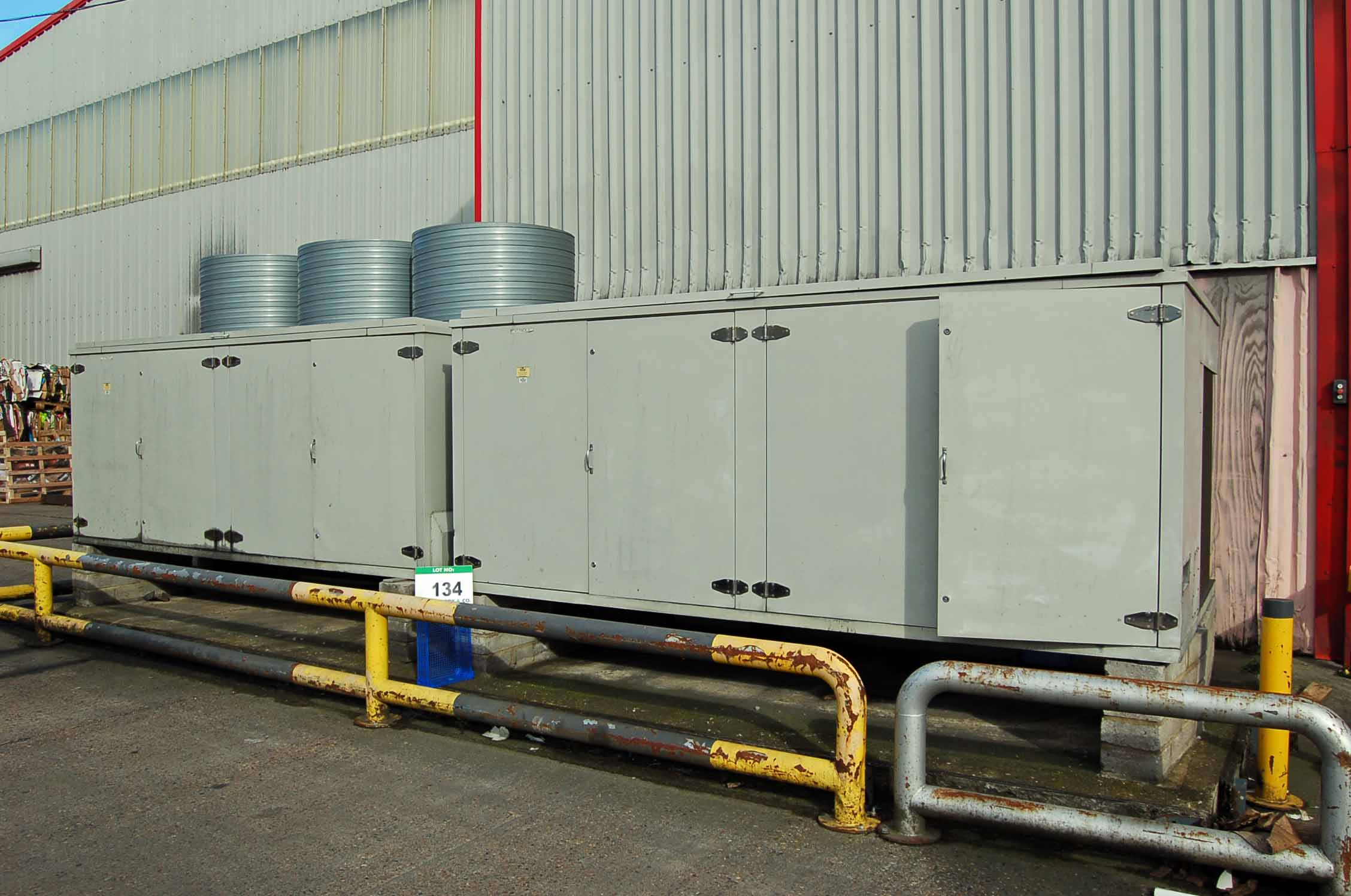Lot 134 - Two Triple Fan Chiller Condenser Units (THIS LOT IS USE RESERVED UNTIL JULY 2019, LIKELY TO BE MID