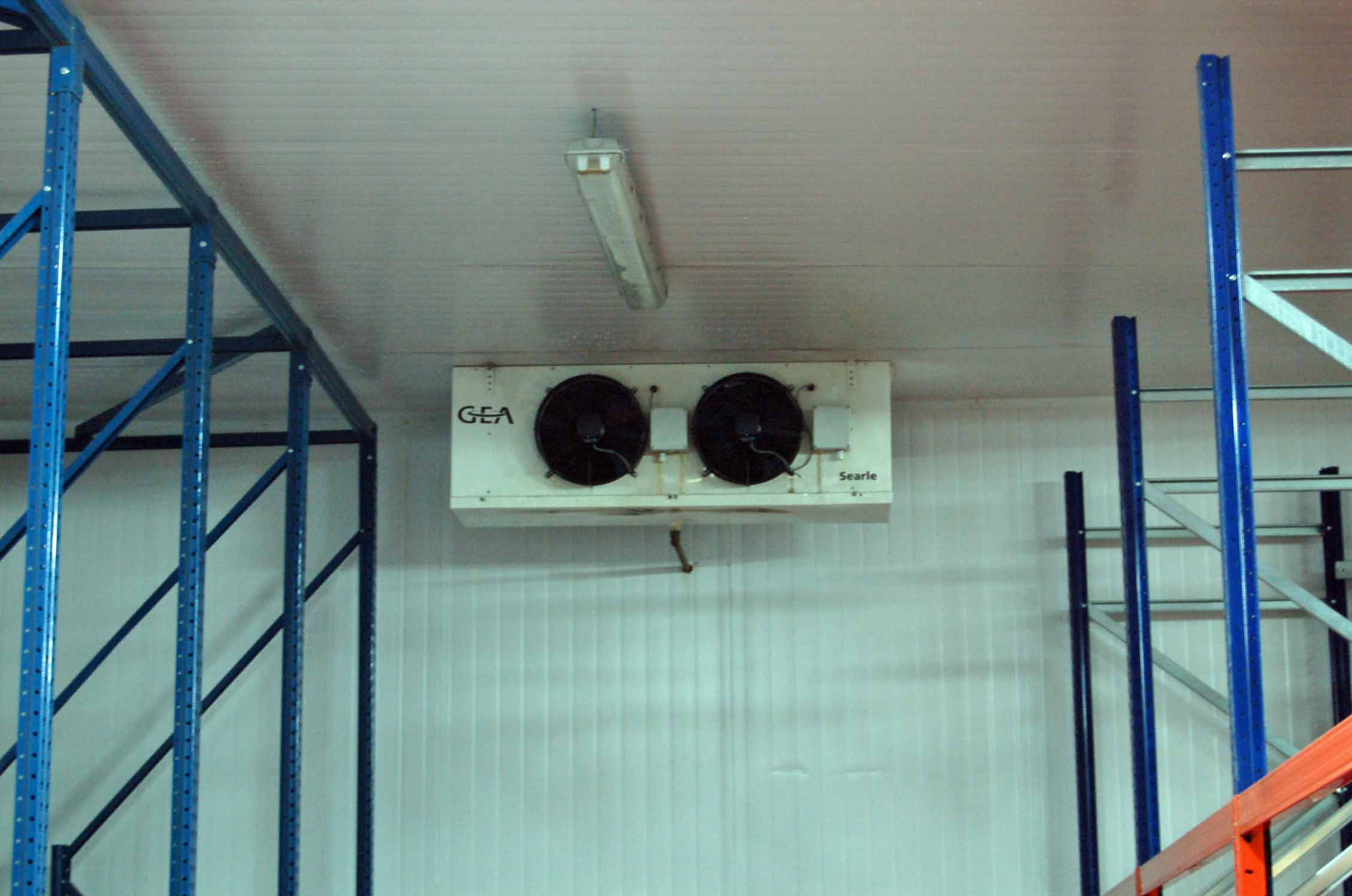 Three SEARLE GEA Twin Fan Ceiling mounted Freezer Evaporator Units (Unit 18) and A MITSUBISHI Twin - Image 3 of 3
