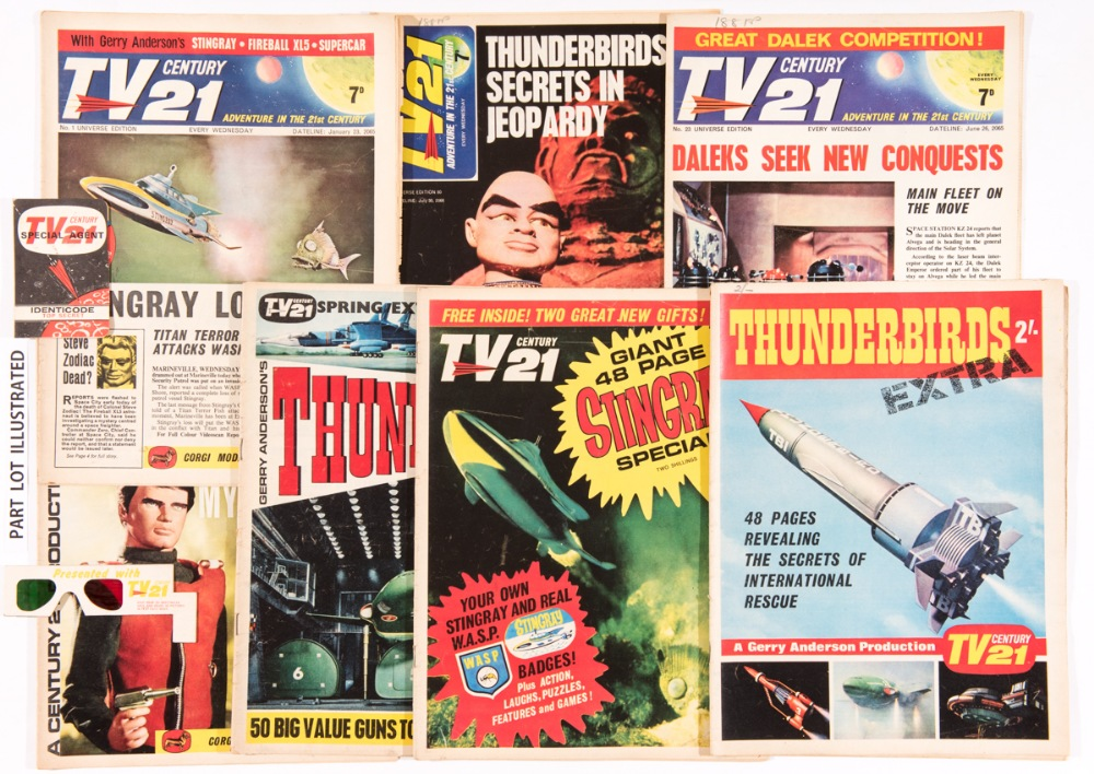 Lot 124 - TV Century 21 (1965-68) 1-157, with No 1 free gift Special Agent Identicode menbership card, No
