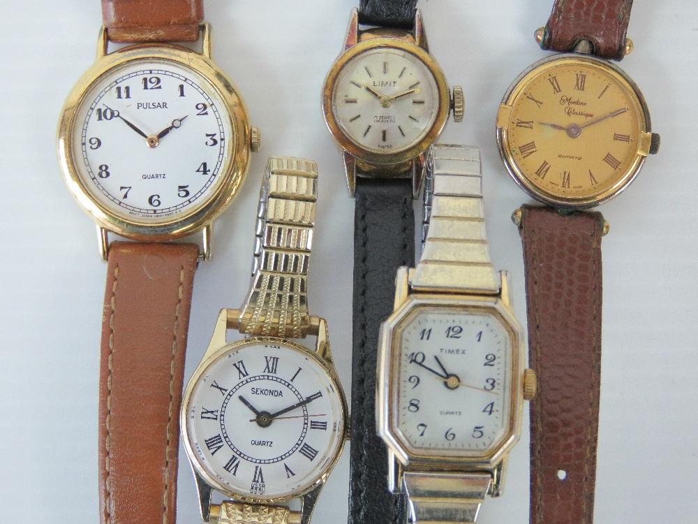 Lot 372 - Five modern ladies watches including Sek