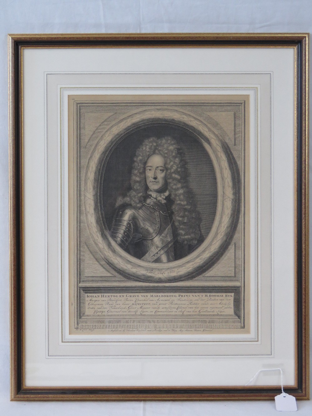 Lot 811 - A steel engraving depicting the Duke of