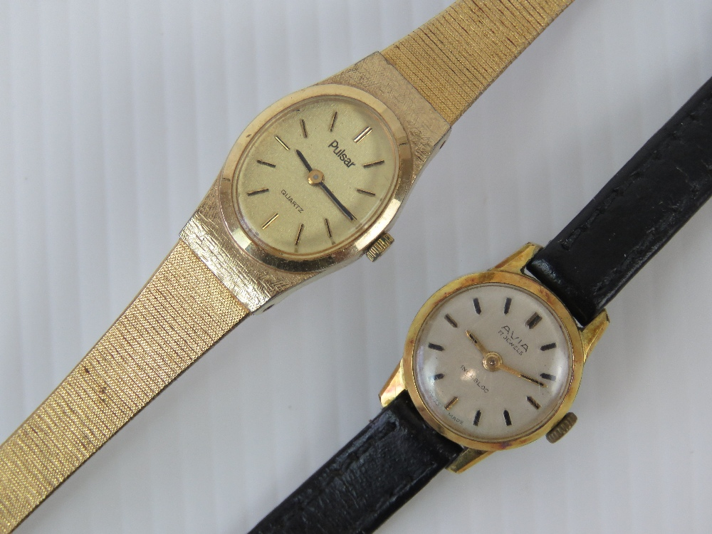 Lot 358 - Two vintage ladies wristwatches; an Avia