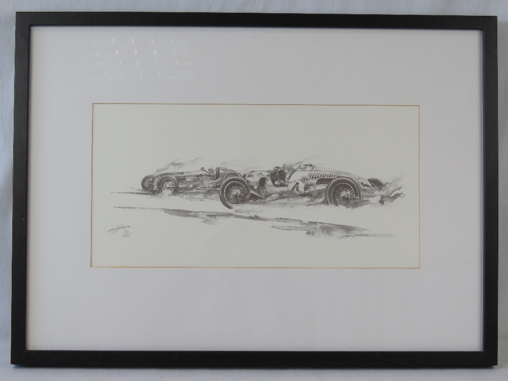 Lot 806 - Motor racing interest, a monochrome limi