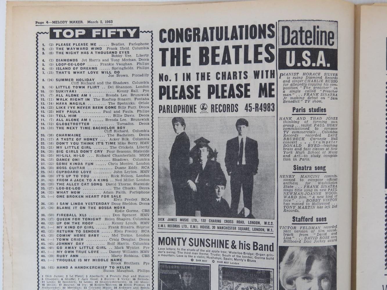 Lot 654 - Beatles; an original copy of 'Melody Mak