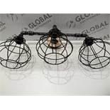 Rrp £190 Boxed Moira Chama 3 Light Ceiling Light (L5)