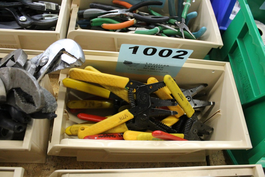 (15) ASSORTED WIRE CUTTERS AND STRIPPERS