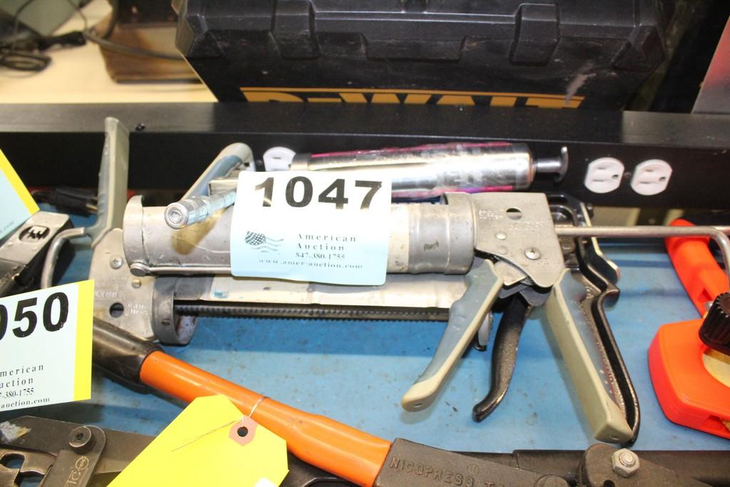 Lot 1047 - (4) ASSORTED CAULK AND GREESE GUNS