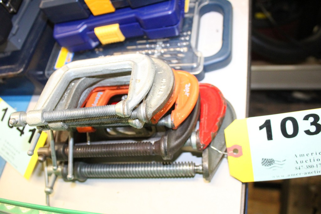 (8) ASSORTED C CLAMPS