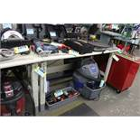 "LYON 60"" X 28"" X 35"" STEEL FRAME WORKBENCH"