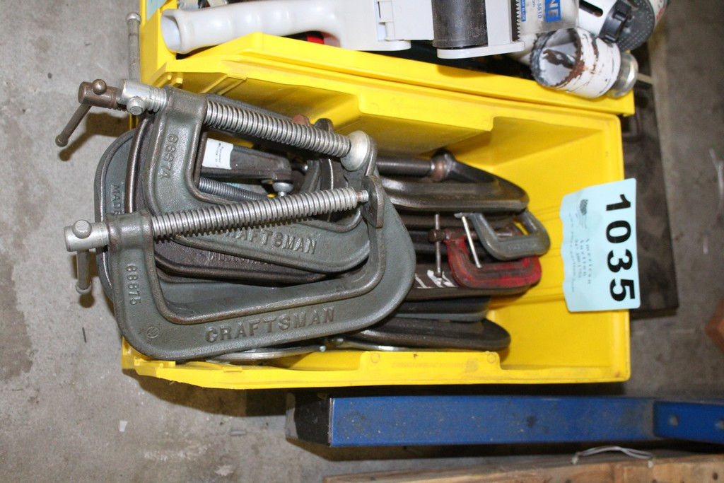 (18) ASSORTED C CLAMPS