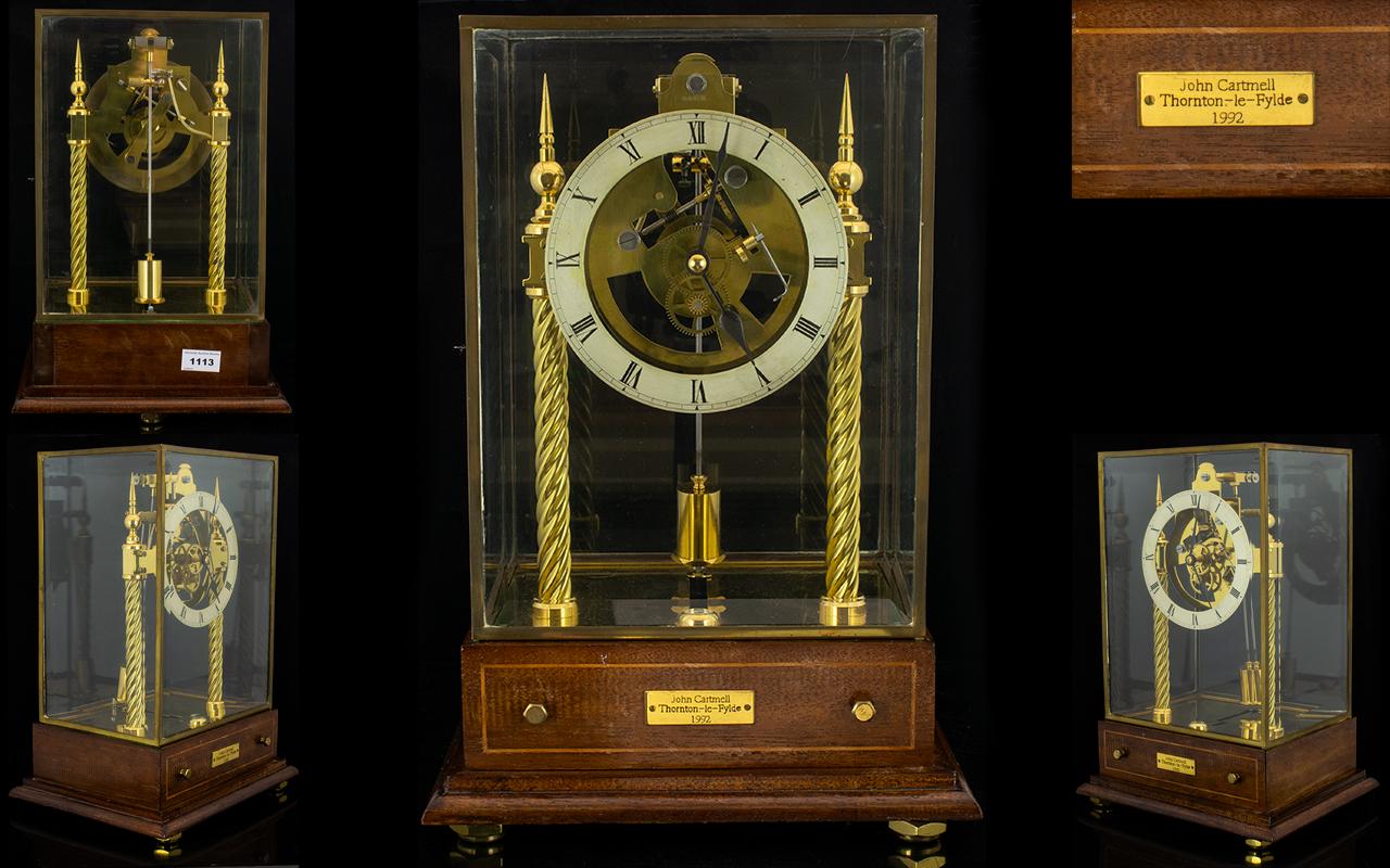 Lot 1113 - Scot Patent Electric Skeleton Clock Made