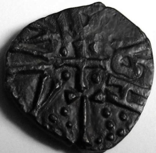 Lot 42 - Anglo Saxon, Kings of Northumbria, OSBERHT [849-67] STYCA. +OSBEREHT, cross with pellets; rev.