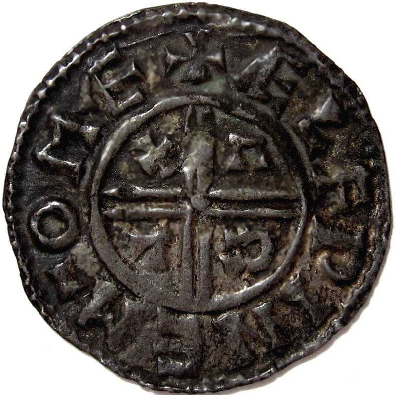 Lot 59 - Anglo Saxon, AETHELRED !! [978-1016] PENNY. Crux type – Maldon mint – Moneyer – Aelfwine. 1.33g.