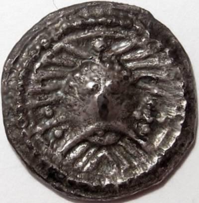 Lot 9 - Anglo Saxon, SCEAT [c.695-740]. Wodan Head, Series X, type 31, English version, facing head, rev.